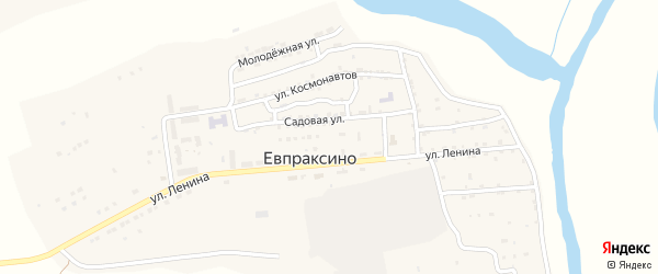 Улица Мира на карте села Евпраксино с номерами домов