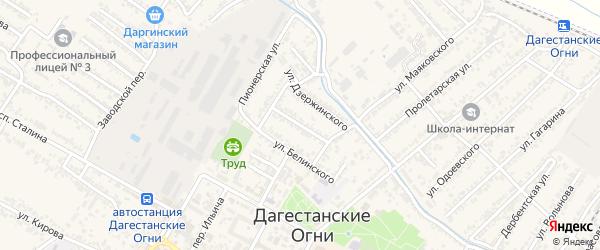 Улица Сулеймана Стальского на карте Дагестанских огней с номерами домов
