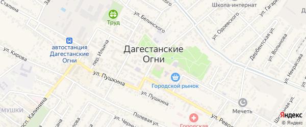 Рабочая улица на карте Дагестанских огней с номерами домов