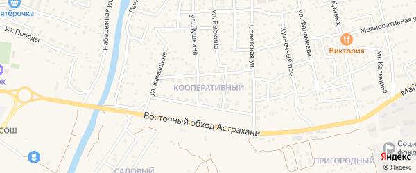 Кооперативный микрорайон на карте села Началово с номерами домов
