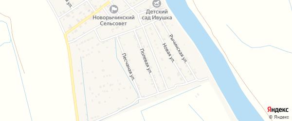 Полевая улица на карте Пойменного поселка с номерами домов