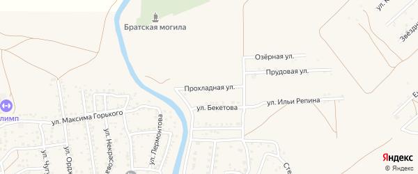 Прохладная улица на карте села Началово с номерами домов