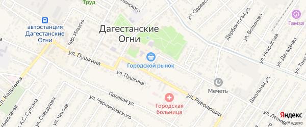 Улица Ивана Владимировича Мичурина на карте Дагестанских огней с номерами домов