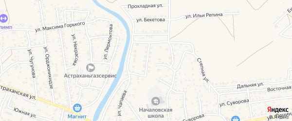 Молодежная улица на карте села Началово с номерами домов