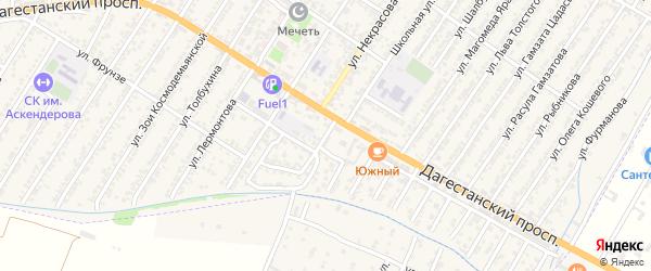 Восточная улица на карте Дагестанских огней с номерами домов