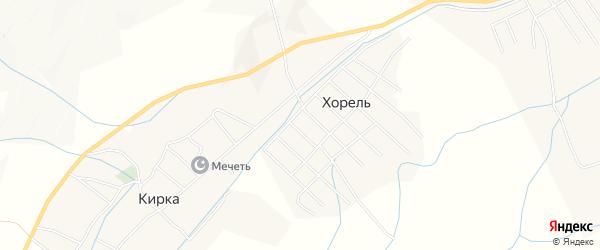 Карта села Хорели в Дагестане с улицами и номерами домов