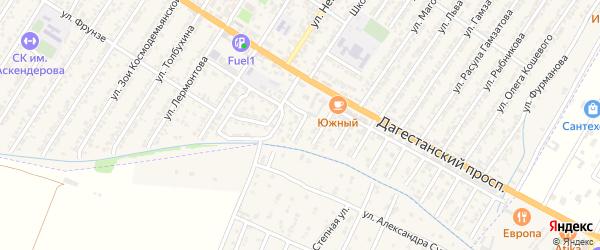 Сиреневая улица на карте Дагестанских огней с номерами домов