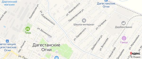 Улица Константина Леонтьевича Козленко на карте Дагестанских огней с номерами домов