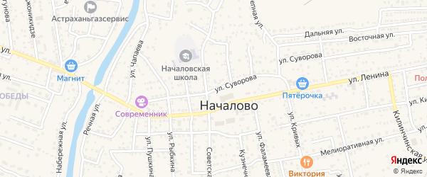 Улица Суворова на карте села Началово с номерами домов