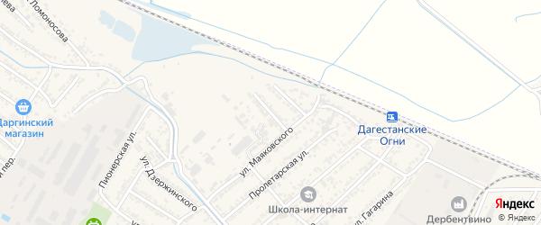 Железнодорожная 3-я улица на карте Дагестанских огней с номерами домов
