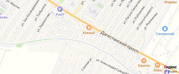 Улица Зияутдина Магомедовича Эфендиева на карте Дагестанских огней с номерами домов