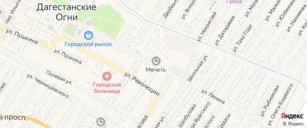 Переулок Владимира Ильича Ленина на карте Дагестанских огней с номерами домов