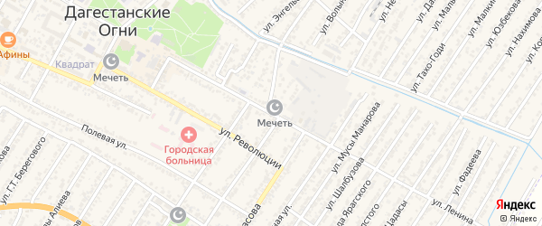 Улица Владимира Ильича Ленина на карте Дагестанских огней с номерами домов