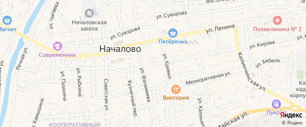 Школьная улица на карте села Началово с номерами домов