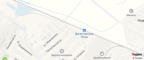 Станционная улица на карте Дагестанских огней с номерами домов