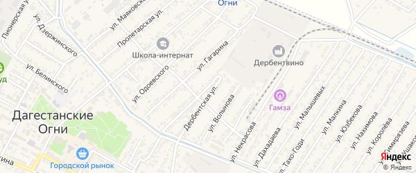 Степная улица на карте села Уллу-Теркеме с номерами домов