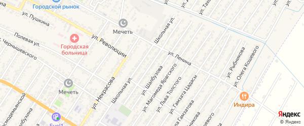 Улица Мусы Хирамановича Манарова на карте Дагестанских огней с номерами домов