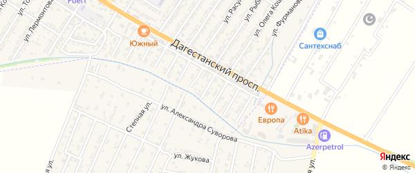 Луговая улица на карте Дагестанских огней с номерами домов