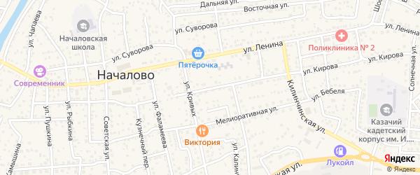 Улица Свердлова на карте села Началово с номерами домов