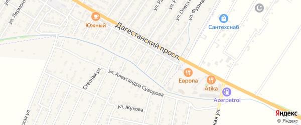 Березовая улица на карте Дагестанских огней с номерами домов