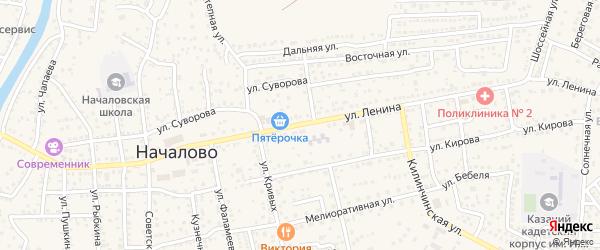 Улица Ленина на карте села Началово с номерами домов