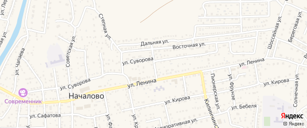 Улица Пугачева на карте села Началово с номерами домов