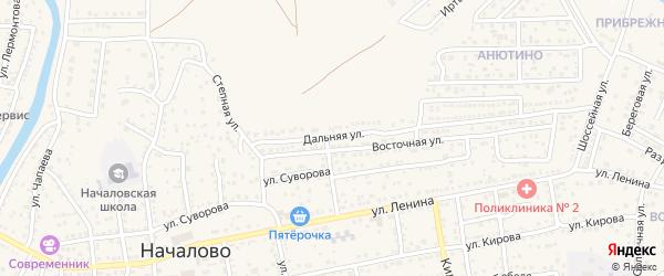 Дальняя улица на карте села Началово с номерами домов