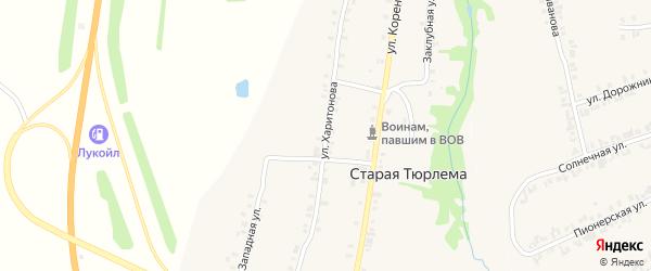 Улица Харитонова на карте деревни Старой Тюрлемы с номерами домов