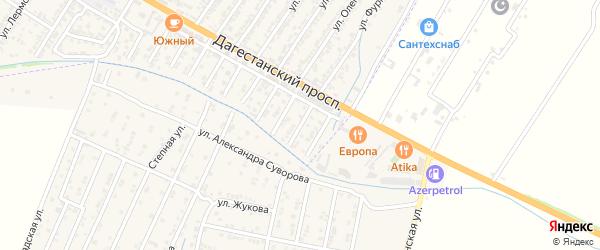 Улица Гюльбике Ханмагомедовны Омаровой на карте Дагестанских огней с номерами домов