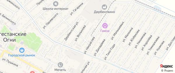 Улица Константина Георгиевича Паустовского на карте Дагестанских огней с номерами домов