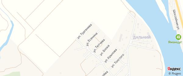 Улица С.Есенина на карте села Началово с номерами домов