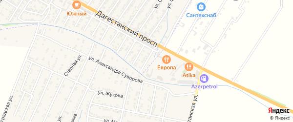 Улица Ибрагима Шахмарданова на карте Дагестанских огней с номерами домов