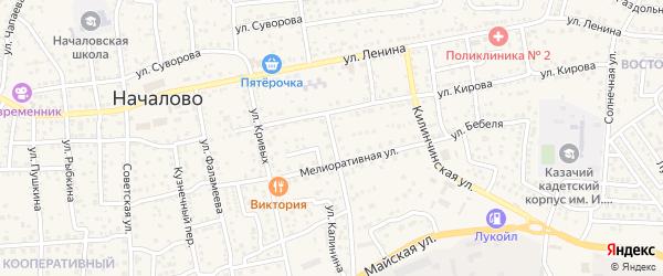 Колхозная улица на карте села Началово с номерами домов