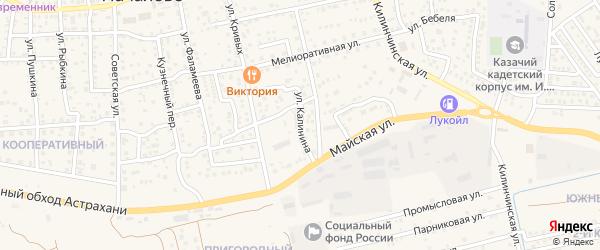 Улица Калинина на карте села Началово с номерами домов