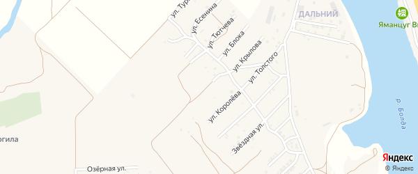 Боевая улица на карте села Началово с номерами домов