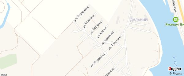 Улица А.Блока на карте села Началово с номерами домов