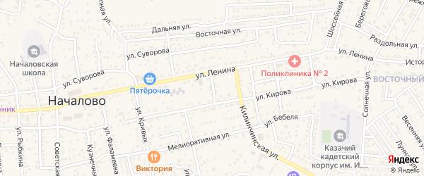 Улица Чехова на карте села Началово с номерами домов
