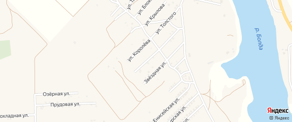 Улица Космонавтов на карте села Началово с номерами домов