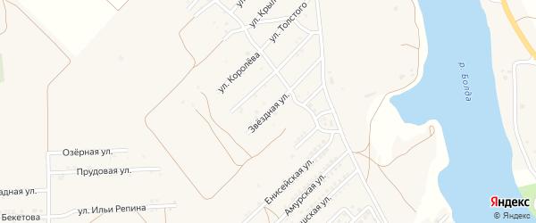Звездная улица на карте села Началово с номерами домов