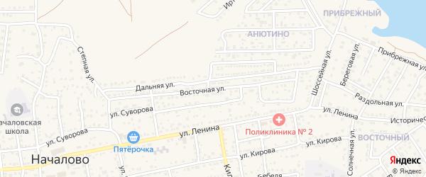 Восточная улица на карте села Началово с номерами домов