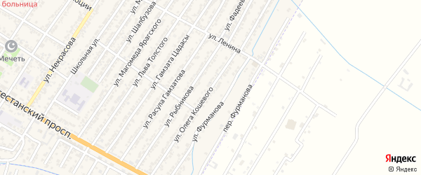 Улица Олега Кошевого на карте Дагестанских огней с номерами домов