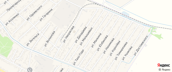 Улица Братьев Малышевых на карте Дагестанских огней с номерами домов