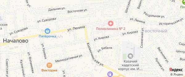 Пионерская улица на карте села Началово с номерами домов