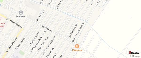 Улица Александра Александра Фадеева на карте Дагестанских огней с номерами домов