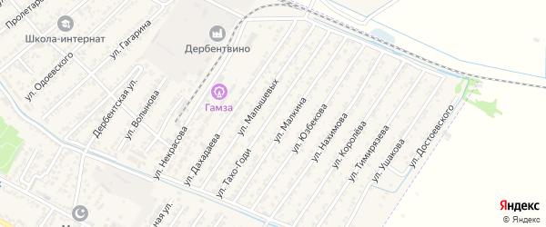Улица А.А.Тахо-Годи на карте Дагестанских огней с номерами домов