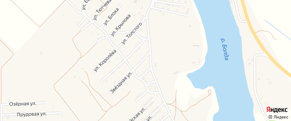Улица Грибоедова на карте поселка Кирпичного Завода N1 с номерами домов