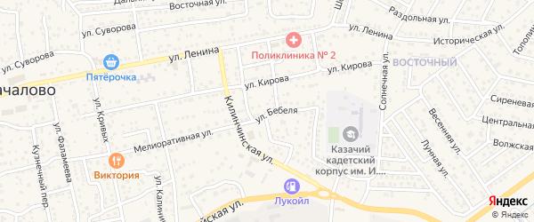 Улица Бебеля на карте села Началово с номерами домов