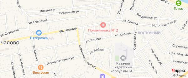 Улица Кирова на карте села Началово с номерами домов