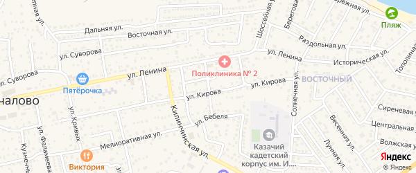 Улица Фрунзе на карте села Началово с номерами домов