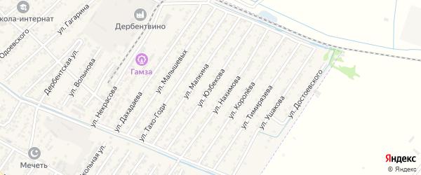 Улица Тарикули Юзбекова на карте Дагестанских огней с номерами домов